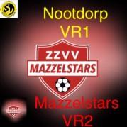 Selectie Mazzelstars VR2 trapt af tegen Nootdorp!